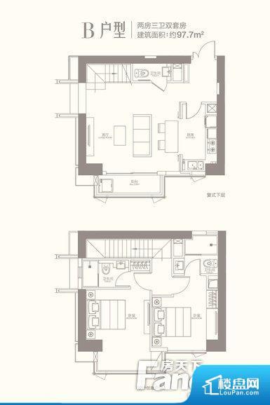 各个空间方正,后期空间利用率高。全明户型,每一个空间都带有窗户,保证后期居住时能够充分采光和透气;通透户型,保证空气能够流通起来,空气质量较好;采光较好,保证居住舒适度。卧室位置合理,能够保证足够安静,客厅的声音不会影响卧室的休息;卫生间位置合理,使用起来动线比较合理;厨房位于门口,方便使用和油烟的排出。各个功能区间面积大小都比较合理,后期使用起来比较方便,居住舒适度高。