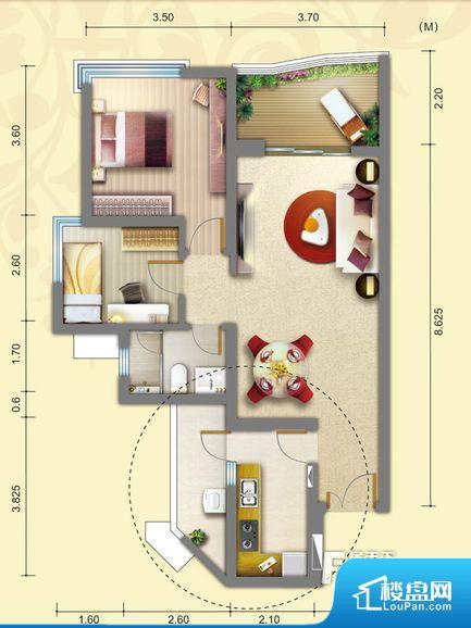 次重要空间不够方正,家具不好摆放,而且容易浪费空间。全明户型,每一个空间都带有窗户,保证后期居住时能够充分采光和透气;通透户型,保证空气能够流通起来,空气质量较好;采光较好,保证居住舒适度。卧室门朝向客厅,外人可以一目了然的看到卧室,私密性较差。客厅、卧室、卫生间和厨房等主要功能间尺寸以及比例合适,方便采光、通风,后期居住方便。