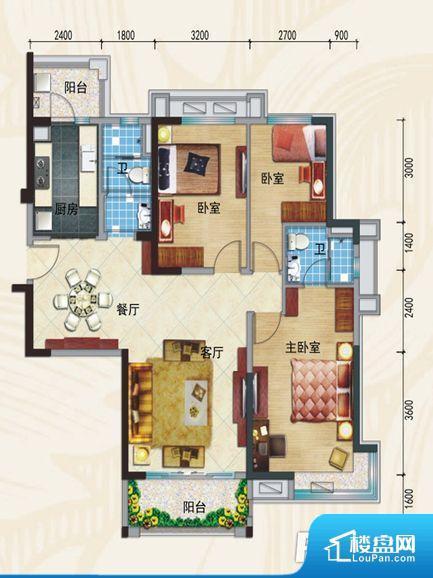 次重要空间不够方正,家具不好摆放,而且容易浪费空间。整个空间采光很好,主卧和客厅均能够保证很好的采光;并且能真正做到全明通透,整个空间空气好。厨卫等重要的使用较为频繁的空间布局合理,方便使用,并且能够保证整个空间的空气质量。卧室作为较为重要的休息空间,尺寸合适,有利于主人更好的休息;客厅作为重要的会客空间,尺寸合适,能够保证主人会客需求。卫生间和厨房作为重要的功能区间,尺寸合适,能够很好的满足主人