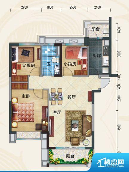 各个空间方正,后期空间利用率高。全明户型,每一个空间都带有窗户,保证后期居住时能够充分采光和透气;通透户型,保证空气能够流通起来,空气质量较好;采光较好,保证居住舒适度。整个户型空间布局合理,真正做到了干湿分离、动静分离,方便后期生活。客厅、卧室、卫生间和厨房等主要功能间尺寸以及比例合适,方便采光、通风,后期居住方便。公摊高于15%且低于25%,整体得房率不算太高。