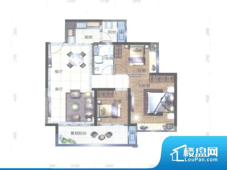 宏鼎·景裕豪园户型图