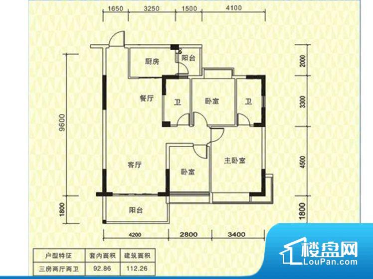 各个空间都很方正,方便后期家具的摆放。全明通透的户型,居住舒适度较高。整个空间有充足的采光,这一点对于后期居住,尤其重要。卫生间门朝向人较多的区域,导致区域空气不好,舒适度差。卧室作为较为重要的休息空间,尺寸合适,有利于主人更好的休息;客厅作为重要的会客空间,尺寸合适,能够保证主人会客需求。卫生间和厨房作为重要的功能区间,尺寸合适,能够很好的满足主人生活需求。公摊相对合理,一般房子公摊基本都在此范