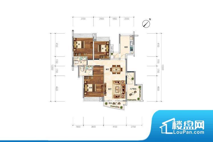 各个空间都很方正,方便后期家具的摆放。整个空间采光很好,主卧和客厅均能够保证很好的采光;并且能真正做到全明通透,整个空间空气好。厨卫等重要的使用较为频繁的空间布局合理,方便使用,并且能够保证整个空间的空气质量。卧室作为较为重要的休息空间,尺寸合适,有利于主人更好的休息;客厅作为重要的会客空间,尺寸合适,能够保证主人会客需求。卫生间和厨房作为重要的功能区间,尺寸合适,能够很好的满足主人生活需求。