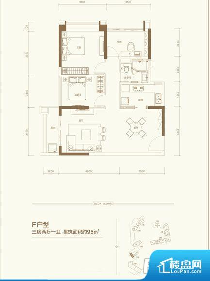 各个空间方正,后期空间利用率高。整个空间采光很好,主卧和客厅均能够保证很好的采光;并且能真正做到全明通透,整个空间空气好。整个户型空间布局合理,真正做到了干湿分离、动静分离,方便后期生活。各个功能区间面积大小都比较合理,后期使用起来比较方便,居住舒适度高。公摊相对合理,一般房子公摊基本都在此范畴。日常使用基本满足。