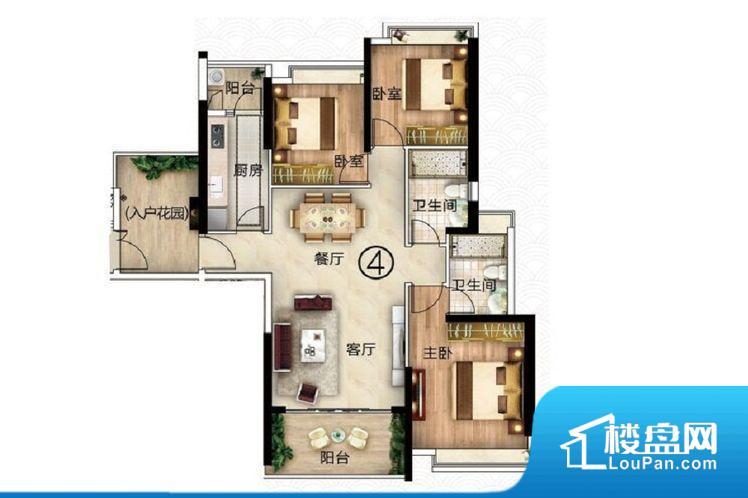 次重要空间不够方正,家具不好摆放,而且容易浪费空间。整个空间采光很好,主卧和客厅均能够保证很好的采光;并且能真正做到全明通透,整个空间空气好。卧室门朝向餐厅,外人可以一目了然的看到卧室,私密性较差。客厅、卧室、卫生间和厨房等主要功能间尺寸以及比例合适,方便采光、通风,后期居住方便。公摊小,