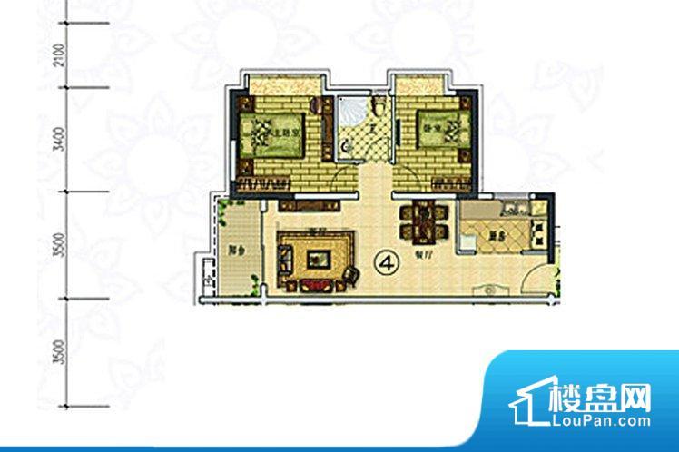 各个空间都很方正,方便后期家具的摆放。主卧、次卧朝北,通风采光不佳。客厅朝西阳光太盛,舒适度不佳。厨卫等重要的使用较为频繁的空间布局合理,方便使用,并且能够保证整个空间的空气质量。客厅、卧室、卫生间和厨房等主要功能间尺寸以及比例合适,方便采光、通风,后期居住方便。