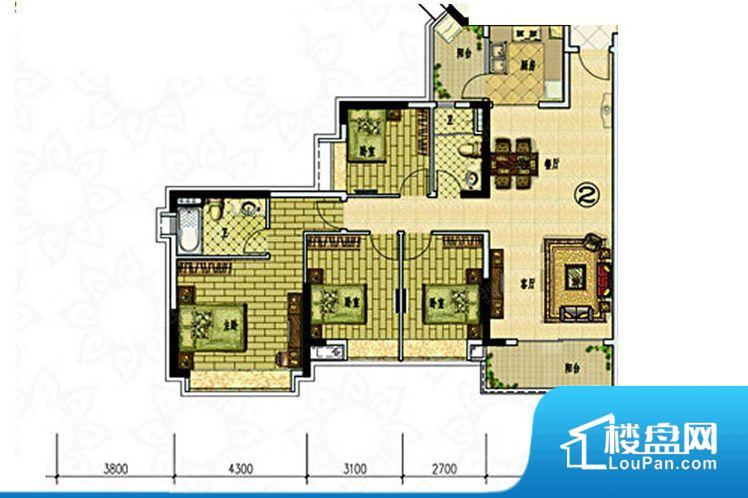 整个空间方正,拐角少,后期利用难度低,提升整个空间的利用率。整个空间不够通透,不利于空气流通,尤其是夏天会比较热。卧室位置合理,能够保证足够安静,客厅的声音不会影响卧室的休息;卫生间位置合理,使用起来动线比较合理;厨房位于门口,方便使用和油烟的排出。各个功能区间面积大小都比较合理,后期使用起来比较方便,居住舒适度高。