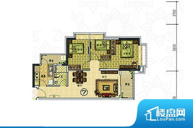各个空间方正,后期空间利用率高。重要空间非南向或者东向,不能很好的保证采光,居住舒适度不高。卧室位置合理,能够保证足够安静,客厅的声音不会影响卧室的休息;卫生间位置合理,使用起来动线比较合理;厨房位于门口,方便使用和油烟的排出。客厅、卧室、卫生间和厨房等主要功能间尺寸以及比例合适,方便采光、通风,后期居住方便。