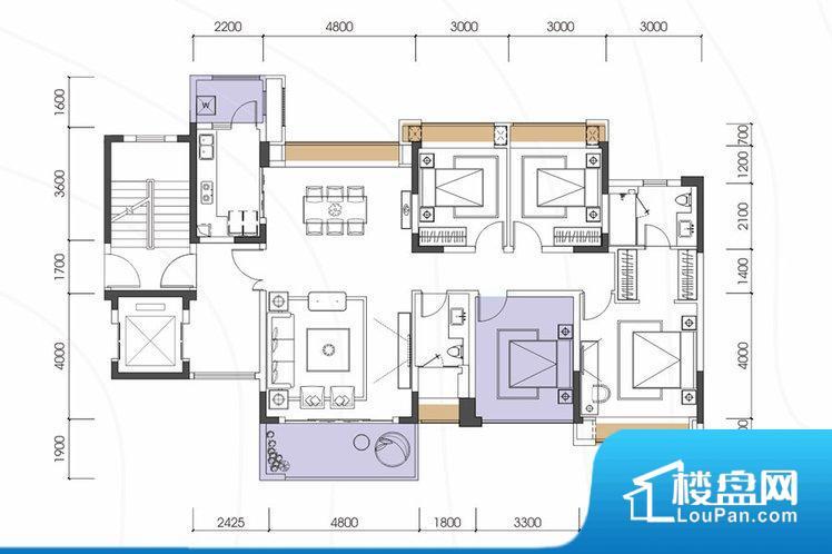 各个空间都很方正,方便后期家具的摆放。整个空间采光很好,主卧和客厅均能够保证很好的采光;并且能真正做到全明通透,整个空间空气好。整个户型空间布局合理,真正做到了干湿分离、动静分离,方便后期生活。各个功能区间面积大小都比较合理,后期使用起来比较方便,居住舒适度高。