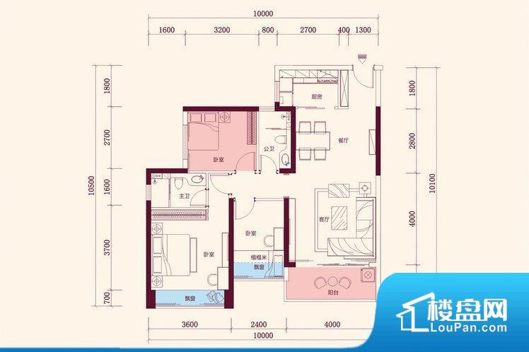 整个空间方正,拐角少,后期利用难度低,提升整个空间的利用率。整个空间不够通透,不利于空气流通,尤其是夏天会比较热。厨卫等重要的使用较为频繁的空间布局合理,方便使用,并且能够保证整个空间的空气质量。卧室作为较为重要的休息空间,尺寸合适,有利于主人更好的休息;客厅作为重要的会客空间,尺寸合适,能够保证主人会客需求。卫生间和厨房作为重要的功能区间,尺寸合适,能够很好的满足主人生活需求。