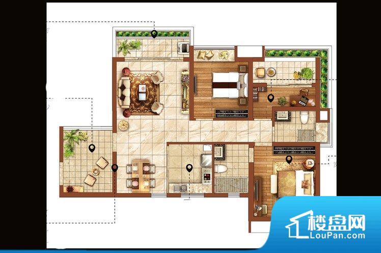 各个空间都很方正,方便后期家具的摆放。非南向或东向,采光不足,西面下午为西晒,夏天时西晒阳光比较热,室内温度变高。北向的下午采光不足,室内需要开灯补光。厨卫等重要的使用较为频繁的空间布局合理,方便使用,并且能够保证整个空间的空气质量。各个功能区间面积大小都比较合理,后期使用起来比较方便,居住舒适度高。