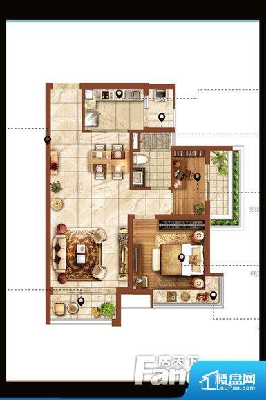 各个空间都很方正,方便后期家具的摆放。全明户型,每一个空间都带有窗户,保证后期居住时能够充分采光和透气;通透户型,保证空气能够流通起来,空气质量较好;采光较好,保证居住舒适度。卧室位置合理,能够保证足够安静,客厅的声音不会影响卧室的休息;卫生间位置合理,使用起来动线比较合理;厨房位于门口,方便使用和油烟的排出。卫生间使用感低,会对主人心情有影响。