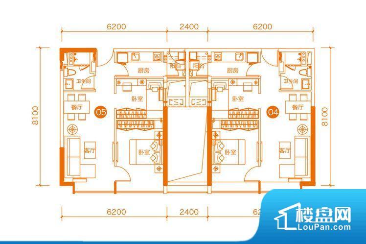 各个空间方正,后期空间利用率高。无穿堂风,室内空气无法对流,会导致过于潮湿或者干燥。卫生间无对外窗户,采光不好,不利于后期使用过程中的排风透气。整个户型空间布局合理,真正做到了干湿分离、动静分离,方便后期生活。客厅、卧室、卫生间和厨房等主要功能间尺寸以及比例合适,方便采光、通风,后期居住方便。