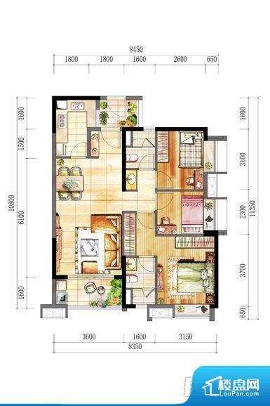 整个空间方正,拐角少,后期利用难度低,提升整个空间的利用率。整个空间采光很好,主卧和客厅均能够保证很好的采光;并且能真正做到全明通透,整个空间空气好。整个户型空间布局合理,真正做到了干湿分离、动静分离,方便后期生活。客厅、卧室、卫生间和厨房等主要功能间尺寸以及比例合适,方便采光、通风,后期居住方便。