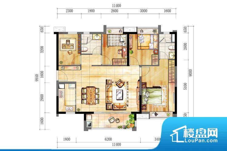 各个空间方正,后期空间利用率高。全明通透的户型,居住舒适度较高。整个空间有充足的采光,这一点对于后期居住,尤其重要。厨卫等重要的使用较为频繁的空间布局合理,方便使用,并且能够保证整个空间的空气质量。卧室作为较为重要的休息空间,尺寸合适,有利于主人更好的休息;客厅作为重要的会客空间,尺寸合适,能够保证主人会客需求。卫生间和厨房作为重要的功能区间,尺寸合适,能够很好的满足主人生活需求。