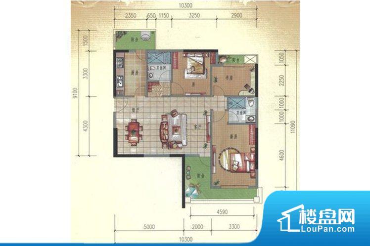 各个空间方正,后期空间利用率高。整个空间采光很好,主卧和客厅均能够保证很好的采光;并且能真正做到全明通透,整个空间空气好。整个户型空间布局合理,真正做到了干湿分离、动静分离,方便后期生活。客厅、卧室、卫生间和厨房等主要功能间尺寸以及比例合适,方便采光、通风,后期居住方便。