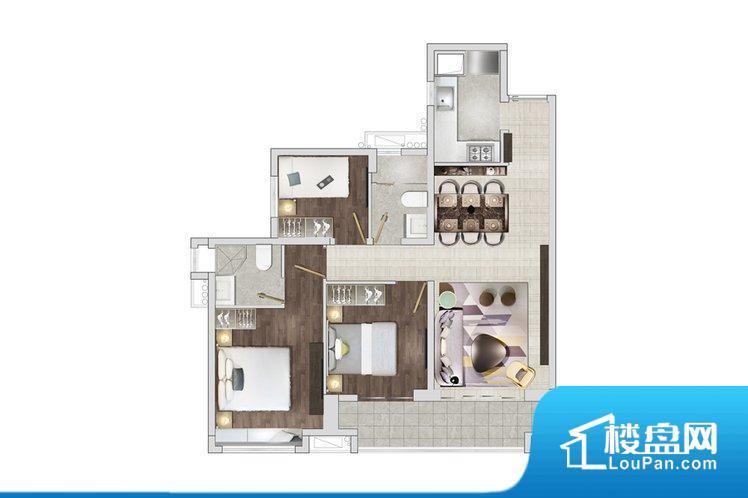 各个空间方正,后期空间利用率高。整个户型空间布局合理,真正做到了干湿分离、动静分离,方便后期生活。客厅、卧室、卫生间和厨房等主要功能间尺寸以及比例合适,方便采光、通风,后期居住方便。公摊相对合理,一般房子公摊基本都在此范畴。日常使用基本满足。