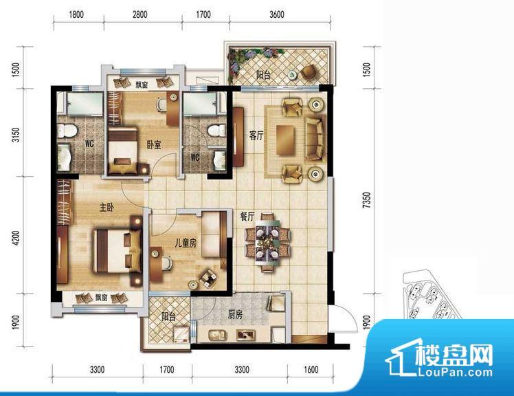 各个空间方正,后期空间利用率高。重要空间非南向或者东向,不能很好的保证采光,居住舒适度不高。整个户型空间布局合理,真正做到了干湿分离、动静分离,方便后期生活。卧室作为较为重要的休息空间,尺寸合适,有利于主人更好的休息;客厅作为重要的会客空间,尺寸合适,能够保证主人会客需求。卫生间和厨房作为重要的功能区间,尺寸合适,能够很好的满足主人生活需求。公摊高于15%且低于25%,整体得房率不算太高。