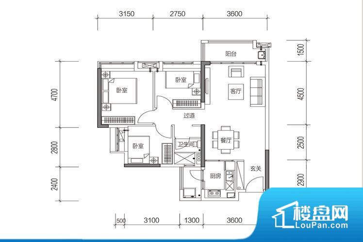 各个空间方正,后期空间利用率高。非南向或东向,采光不足,西面下午为西晒,夏天时西晒阳光比较热,室内温度变高。北向的下午采光不足,室内需要开灯补光。卧室位置合理,能够保证足够安静,客厅的声音不会影响卧室的休息;卫生间位置合理,使用起来动线比较合理;厨房位于门口,方便使用和油烟的排出。客厅、卧室、卫生间和厨房等主要功能间尺寸以及比例合适,方便采光、通风,后期居住方便。公摊相对合理,一般房子公摊基本都在