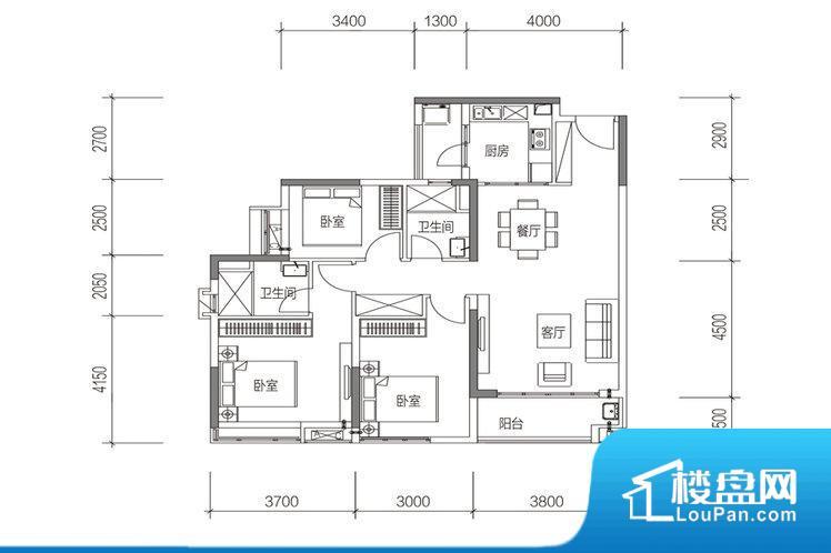 整个空间方正,拐角少,后期利用难度低,提升整个空间的利用率。整个空间采光很好,主卧和客厅均能够保证很好的采光;并且能真正做到全明通透,整个空间空气好。卧室位置合理,能够保证足够安静,客厅的声音不会影响卧室的休息;卫生间位置合理,使用起来动线比较合理;厨房位于门口,方便使用和油烟的排出。各个功能区间面积大小都比较合理,后期使用起来比较方便,居住舒适度高。公摊高于15%且低于25%,整体得房率不算太高