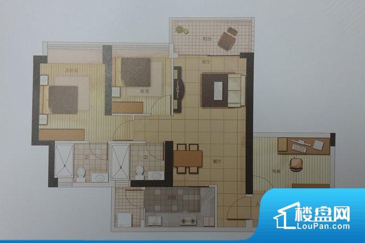 各个空间都很方正,方便后期家具的摆放。全明户型,每一个空间都带有窗户,保证后期居住时能够充分采光和透气;通透户型,保证空气能够流通起来,空气质量较好;采光较好,保证居住舒适度。卫生间朝向卧室,产生的气味对卧室有影响。卧室作为较为重要的休息空间,尺寸合适,有利于主人更好的休息;客厅作为重要的会客空间,尺寸合适,能够保证主人会客需求。卫生间和厨房作为重要的功能区间,尺寸合适,能够很好的满足主人生活需求