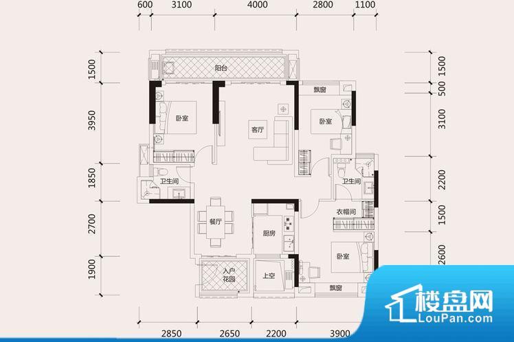 各个空间方正,后期空间利用率高。全明户型,每一个空间都带有窗户,保证后期居住时能够充分采光和透气;通透户型,保证空气能够流通起来,空气质量较好;采光较好,保证居住舒适度。卫生间朝向客厅私密性较差,卫生间朝向餐厅产生的气味及细菌对餐厅影响较大。客厅、卧室、卫生间和厨房等主要功能间尺寸以及比例合适,方便采光、通风,后期居住方便。公摊相对合理,一般房子公摊基本都在此范畴。日常使用基本满足。