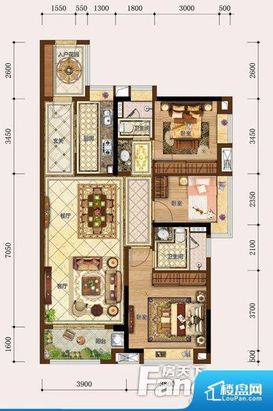 整个空间方正,拐角少,后期利用难度低,提升整个空间的利用率。全明通透的户型,居住舒适度较高。整个空间有充足的采光,这一点对于后期居住,尤其重要。卫生间门朝向人较多的区域,导致区域空气不好,舒适度差。客厅、卧室、卫生间和厨房等主要功能间尺寸以及比例合适,方便采光、通风,后期居住方便。公摊相对合理,一般房子公摊基本都在此范畴。日常使用基本满足。
