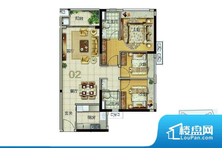 各个空间都很方正,方便后期家具的摆放。全明通透的户型,居住舒适度较高。整个空间有充足的采光,这一点对于后期居住,尤其重要。卫生间朝向客厅私密性较差,卫生间朝向餐厅产生的气味及细菌对餐厅影响较大,卫生间朝向卧室,产生的气味对卧室有影响。各个功能区间面积大小都比较合理,后期使用起来比较方便,居住舒适度高。公摊高于15%且低于25%,整体得房率不算太高。