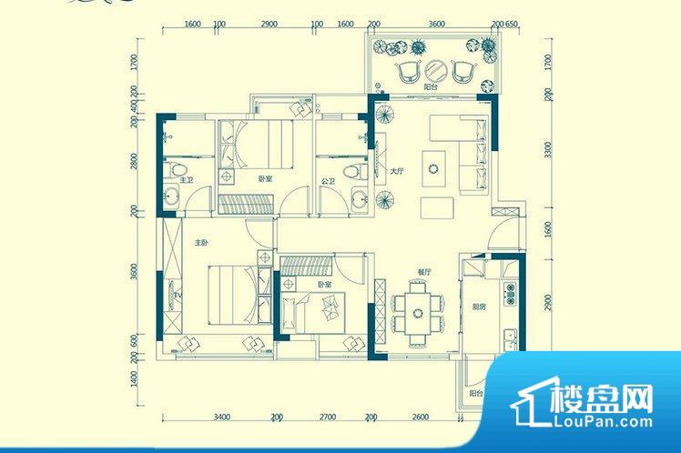 整个空间方正,拐角少,后期利用难度低,提升整个空间的利用率。重要空间非南向或者东向,不能很好的保证采光,居住舒适度不高。卧室位置合理,能够保证足够安静,客厅的声音不会影响卧室的休息;卫生间位置合理,使用起来动线比较合理;厨房位于门口,方便使用和油烟的排出。卧室作为较为重要的休息空间,尺寸合适,有利于主人更好的休息;客厅作为重要的会客空间,尺寸合适,能够保证主人会客需求。卫生间和厨房作为重要的功能区