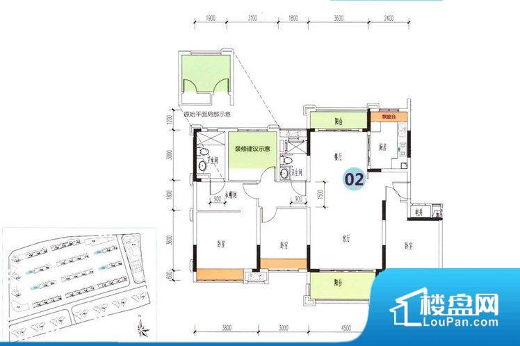 各个空间方正,后期空间利用率高。整个空间采光很好,主卧和客厅均能够保证很好的采光;并且能真正做到全明通透,整个空间空气好。厨房在整个空间比较深的位置,一方面使用不便,另一方面使用时油烟对整个家里的空气影响较大各个功能区间面积大小都比较合理,后期使用起来比较方便,居住舒适度高。公摊低于15%,得房率高;但是由于公摊太低,小区内基本设施可能很难保证。