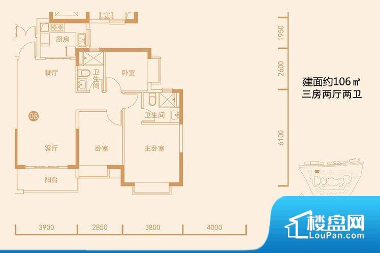 各个空间方正,后期空间利用率高。无穿堂风,室内空气无法对流,会导致过于潮湿或者干燥。卧室位置合理,能够保证足够安静,客厅的声音不会影响卧室的休息;卫生间位置合理,使用起来动线比较合理;厨房位于门口,方便使用和油烟的排出。其他卧室不合理,会对居住者睡眠有影响。公摊高于15%且低于25%,整体得房率不算太高。