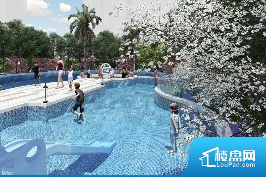 项目泳池效果图