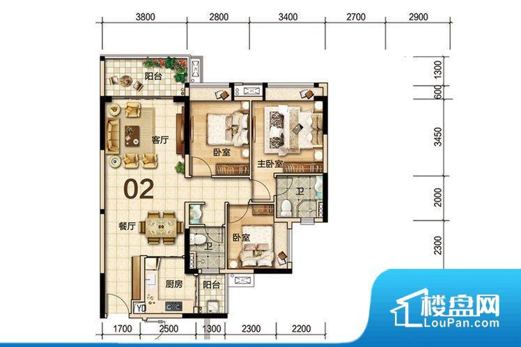 各个空间都很方正,方便后期家具的摆放。非南向或东向,采光不足,西面下午为西晒,夏天时西晒阳光比较热,室内温度变高。卧室位置合理,能够保证足够安静,客厅的声音不会影响卧室的休息;卫生间位置合理,使用起来动线比较合理;厨房位于门口,方便使用和油烟的排出。其他卧室面宽不合理,房间采光不足,居住起来舒适度较低。