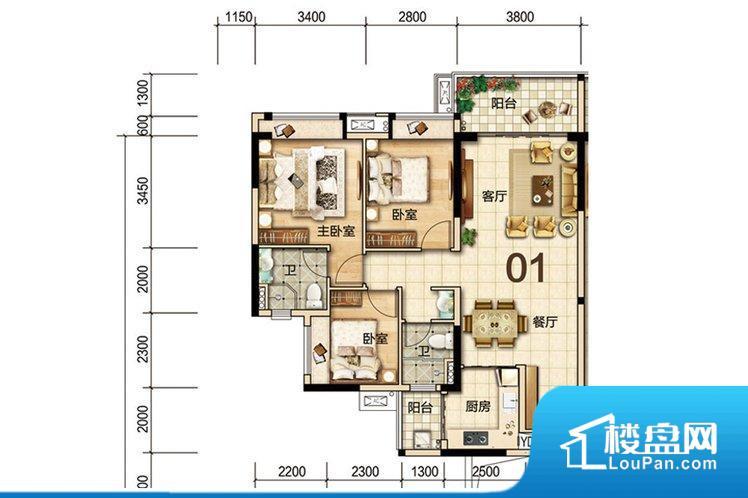 各个空间方正,后期空间利用率高。主要空间非南向或东向,采光不足。卧室位置合理,能够保证足够安静,客厅的声音不会影响卧室的休息;卫生间位置合理,使用起来动线比较合理;厨房位于门口,方便使用和油烟的排出。其他卧室不合理,会对居住者睡眠有影响。