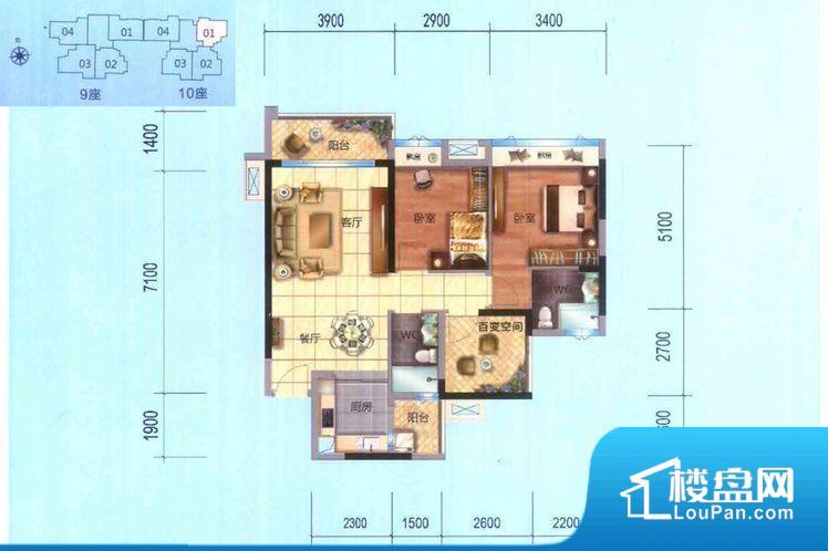 各个空间方正,后期空间利用率高。非南向或东向,采光不足,西面下午为西晒,夏天时西晒阳光比较热,室内温度变高。北向的下午采光不足,室内需要开灯补光。厨卫等重要的使用较为频繁的空间布局合理,方便使用,并且能够保证整个空间的空气质量。其他卧室不合理,会对居住者睡眠有影响。