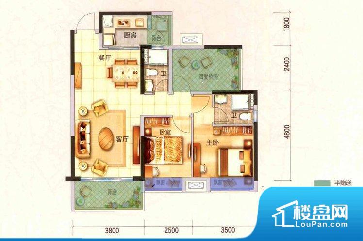各个空间方正,后期空间利用率高。全明通透的户型,居住舒适度较高。整个空间有充足的采光,这一点对于后期居住,尤其重要。卧室位置合理,能够保证足够安静,客厅的声音不会影响卧室的休息;卫生间位置合理,使用起来动线比较合理;厨房位于门口,方便使用和油烟的排出。次卧面宽不合适,采光不好;后期使用时需要开灯,舒适度不高。