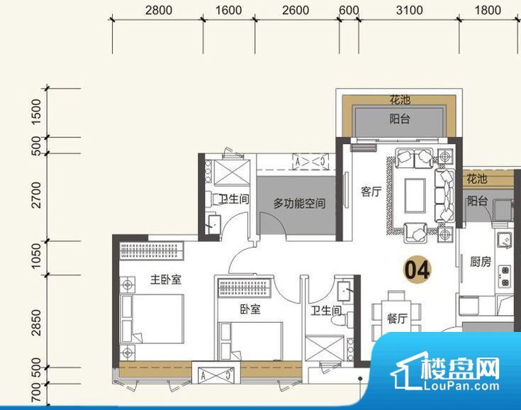 整个空间方正,拐角少,后期利用难度低,提升整个空间的利用率。整个空间采光很好,主卧和客厅均能够保证很好的采光;并且能真正做到全明通透,整个空间空气好。整个户型空间布局合理,真正做到了干湿分离、动静分离,方便后期生活。卧室作为较为重要的休息空间,尺寸合适,有利于主人更好的休息;客厅作为重要的会客空间,尺寸合适,能够保证主人会客需求。卫生间和厨房作为重要的功能区间,尺寸合适,能够很好的满足主人生活需求