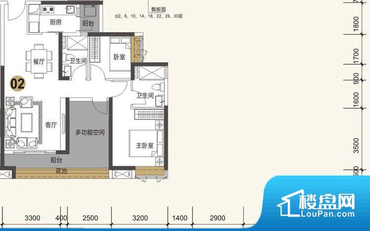 整个空间方正,拐角少,后期利用难度低,提升整个空间的利用率。厨房门朝向,做饭产生油烟和噪音对客厅有影响。客厅、卧室、卫生间和厨房等主要功能间尺寸以及比例合适,方便采光、通风,后期居住方便。公摊相对合理,一般房子公摊基本都在此范畴。日常使用基本满足。