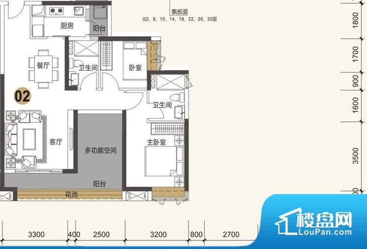 各个空间都很方正,方便后期家具的摆放。卫生间如没有窗子,可加管道通风,但是相对来说卫生间有窗户是好的情况,利于排湿,不会使湿气进到室内。厨房门朝向客厅,做饭时油烟对客厅影响较大。客厅、卧室、卫生间和厨房等主要功能间尺寸以及比例合适,方便采光、通风,后期居住方便。公摊相对合理,一般房子公摊基本都在此范畴。日常使用基本满足。
