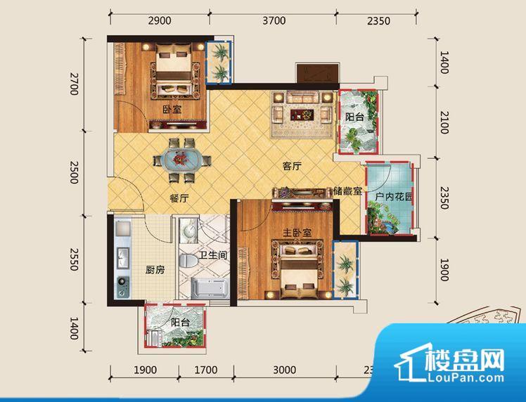次要空间不方正会有局促感,整体影响采光。对家具方面布置而言会有很大的影响,还很不美观。无穿堂风,室内空气无法对流,会导致过于潮湿或者干燥。主人去卫生间要传堂入室,整个动线过长,使用起来不方便。卧室作为较为重要的休息空间,尺寸合适,有利于主人更好的休息;客厅作为重要的会客空间,尺寸合适,能够保证主人会客需求。卫生间和厨房作为重要的功能区间,尺寸合适,能够很好的满足主人生活需求。公摊低于15%,属于目