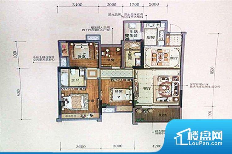 各个空间方正,后期空间利用率高。无穿堂风,室内空气无法对流,会导致过于潮湿或者干燥。整个户型空间布局合理,真正做到了干湿分离、动静分离,方便后期生活。卧室作为较为重要的休息空间,尺寸合适,有利于主人更好的休息;客厅作为重要的会客空间,尺寸合适,能够保证主人会客需求。卫生间和厨房作为重要的功能区间,尺寸合适,能够很好的满足主人生活需求。公摊低于15%,得房率高;但是由于公摊太低,小区内基本设施可能很