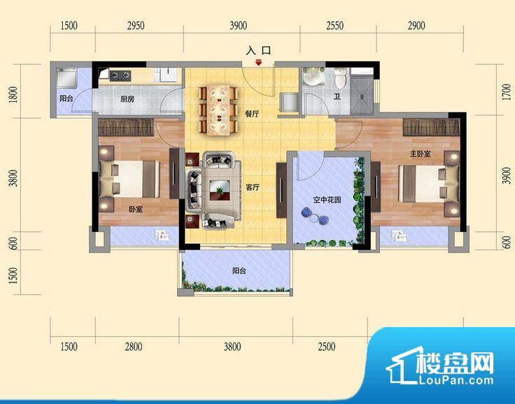 整个空间方正,拐角少,后期利用难度低,提升整个空间的利用率。全明通透的户型,居住舒适度较高。整个空间有充足的采光,这一点对于后期居住,尤其重要。卧室门朝向客厅,外人可以一目了然的看到卧室,私密性较差。卧室作为较为重要的休息空间,尺寸合适,有利于主人更好的休息;客厅作为重要的会客空间,尺寸合适,能够保证主人会客需求。卫生间和厨房作为重要的功能区间,尺寸合适,能够很好的满足主人生活需求。公摊高于15%