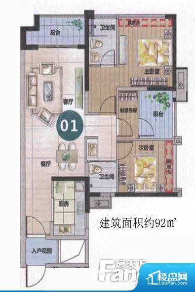 各个空间都很方正,方便后期家具的摆放。卧室位置合理,能够保证足够安静,客厅的声音不会影响卧室的休息;功能区位置合理,使用起来动线比较合理。客厅、卧室、卫生间和厨房等主要功能间尺寸以及比例合适,方便采光、通风,后期居住方便。