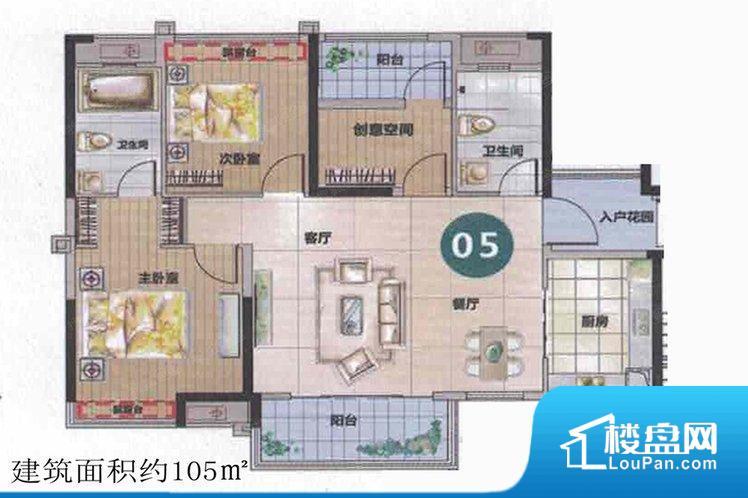 户型方正实用,空间利用率高,南北对流通透不足,主卧和阳台朝南,采光充足,功能区间分布合理,能做到干湿分离,客厅、主卧、其他卧室面宽皆合理,居住舒适。