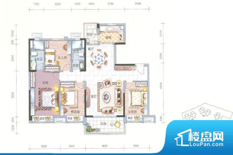 各个空间都很方正,方便后期家具的摆放。整个空间采光很好,主卧和客厅均能够保证很好的采光;并且能真正做到全明通透,整个空间空气好。厨房门朝向,做饭产生油烟和噪音对客厅有影响。卧室作为较为重要的休息空间,尺寸合适,有利于主人更好的休息;客厅作为重要的会客空间,尺寸合适,能够保证主人会客需求。卫生间和厨房作为重要的功能区间,尺寸合适,能够很好的满足主人生活需求。公摊低于15%,属于目前市场中公摊很低的户
