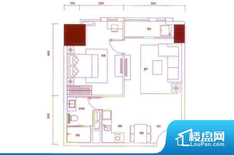 户型方正实用,空间利用率高,南北通透,整个空间空气好,阳台和房间都采光充足,功能区间分布合理,能做到干湿分离、动静分离,客厅、主卧面宽皆合理,居住舒适。