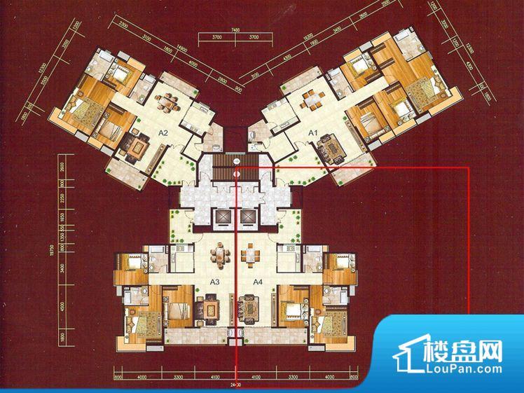怡景湾海岸豪庭户型图