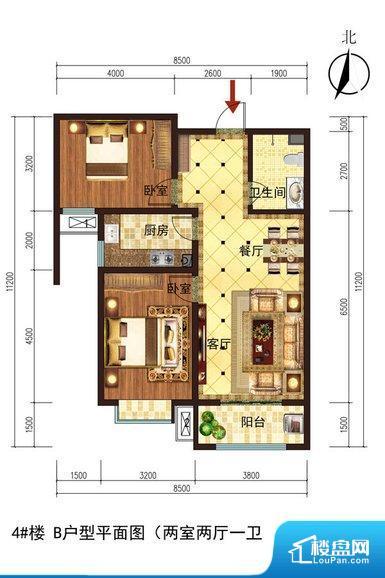 各个空间方正,后期空间利用率高。卫生间无对外窗户,采光不好,不利于后期使用过程中的排风透气。卧室门朝向比较吵闹的区域,不利于主人休息。客厅、卧室、卫生间和厨房等主要功能间尺寸以及比例合适,方便采光、通风,后期居住方便。公摊低于15%,得房率高;但是由于公摊太低,小区内基本设施可能很难保证。