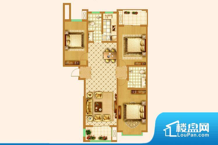 各个空间方正,后期空间利用率高。卫生间如没有窗子,可加管道通风,但是相对来说卫生间有窗户是好的情况,利于排湿,不会使湿气进到室内。主卧无卫生间,客卫在公共位置,自然主人需要和其他人共用,难免会发生不够用的情况。卧室作为较为重要的休息空间,尺寸合适,有利于主人更好的休息;客厅作为重要的会客空间,尺寸合适,能够保证主人会客需求。卫生间和厨房作为重要的功能区间,尺寸合适,能够很好的满足主人生活需求。公摊