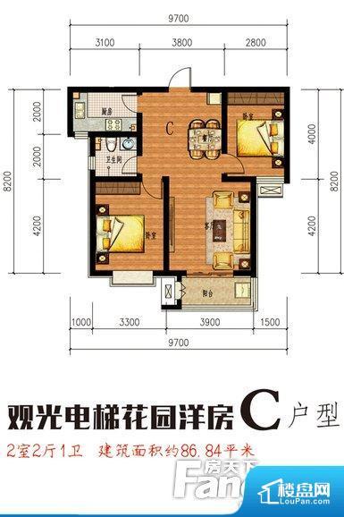 各个空间都很方正,方便后期家具的摆放。整个空间不够通透,不利于空气流通,尤其是夏天会比较热。卧室门朝向客厅,外人可以一目了然的看到卧室,私密性较差。客厅、卧室、卫生间和厨房等主要功能间尺寸以及比例合适,方便采光、通风,后期居住方便。公摊高于15%且低于25%,整体得房率不算太高。